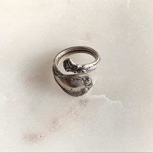 Vintage Old Master Towle Sterling spoon ring
